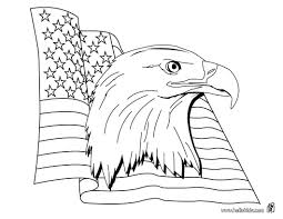 Eagle With American Flag Coloring Page