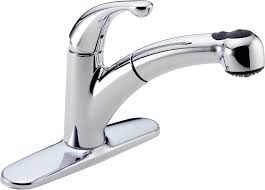 Delta Faucet Leaking At Base by Delta 467 Dst Palo Single Handle Pull Out Kitchen Faucet Chrome