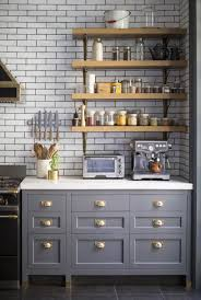 Top Corner Kitchen Cabinet Ideas by Kitchen Nice Grey Kitchen Cabinets With Wooden Top And Sink