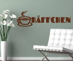 wandtattoo käffchen kaffee coffee spruch cafe aufkleber küche esszimmer wohnzimmer kaffeebohnen tasse 1d370