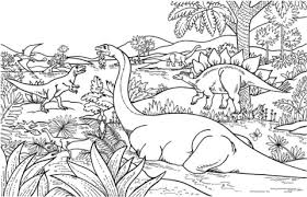 Click To See Printable Version Of Dinosaurs Coloring Page