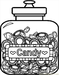 Bunch Ideas Of Candy Coloring Pages To Print Also Download