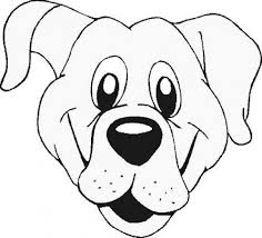 Dog Face Coloring Page AZ Pages