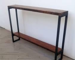 narrow sofa table etsy