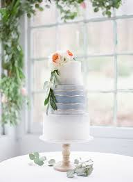 Modern Beach Wedding Cake Gold Stripe
