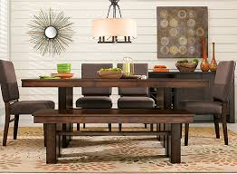 teagan 6 pc dining set chocolate walnut raymour flanigan