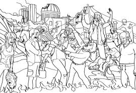 Coloring Page Zombie Characters 47