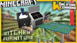Minecraft Kitchen Ideas Pe by Minecraft Kitchen Furniture With Only Two Command Blocks Youtube