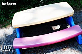 plastic picnic table makeoverdiy show off u2013 diy decorating and