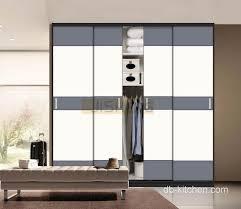 uv high gloss color bination sliding door wardrobe
