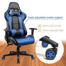 Homall Gaming Office Chair Computer Desk Racing Style High Back PU Leather  Executive And Ergonomic Style Swivel Chair With Headrest And Lumbar Support  ... 5 Best Gaming Chairs For The Serious Gamer Desino Chair Racing Style Home Office Ergonomic Swivel Rolling Computer With Headrest And Adjustable Lumbar Support White Bestmassage Pc Desk Arms Modern For Back Pain 360 Degree Rotation Wheels Height Recliner Budget Rlgear Every Shop Here Details About Seat High Pu Leather Designs Protector Viscologic Liberty Eertainment Video Game Backrest Adjustment Pillows Ewin Flash Xl Size Series Secretlab Are Rolling Out Their 20 Gaming Chairs