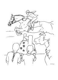 Horse Coloring Pages Jumping Realistic To Print