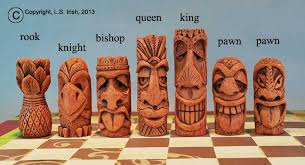 tiki chess set beginner u0027s wood carving project by lora s irish