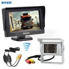 100 Backup Camera System For Trucks DIYKIT 43inch Car Rear View Monitor IR CCD Parking
