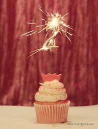 Cupcake 2 Year Birthday Sparkler Pink Gold The OP Life