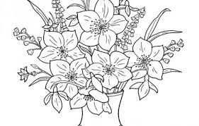 Free Printable Coloring Pages Of Flower In A Vase