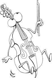 Music Coloring Page Doublebass Sheet