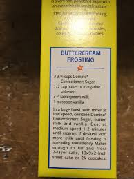 Christmas Tree Preservative Recipe Sugar by Buttercream Frosting Recipe From Domino Confectioners Sugar Box