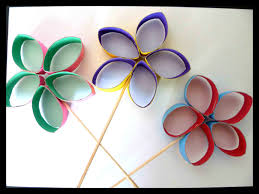 des fleurs en rouleaux de papier wc mes humeurs créatives by flo