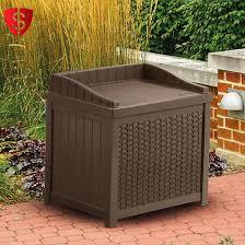 Suncast 50 Gallon Deck Boxstorage Bench by Outdoor Storage Cabinet Utility Base Box Yard Garden Patio Garage