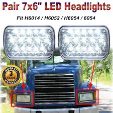 100 Led Lights For Trucks Headlights Amazoncom 7X6 LED For Mack Semi Truck CH600 CH700 CL600