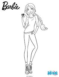 Barbie Is Always Stylish Even When She Dresses Casual More Coloring Sheets On Hellokids
