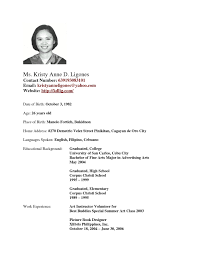 Resume For Highschool Graduate Free High School Student Sample Philippines Sidemcicek Of 20 Resumes