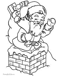 Free Printable Christmas Coloring Sheets Of Santa