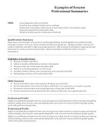 Resume Profile Samples Best Example Images On Format Examples Sample Statement