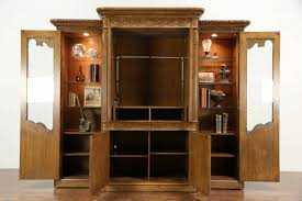 Carved Entertainment Center Armoire Display Cabinet, Signed Marge ... We Solved Our Pantry Problems With This Upcycled Ertainment Collection Of Solutions Eertainment Centers Also Sold Henredon Signed Vintage Neoclassical Cherry Armoire Or Hooker Closet Center Satin Black Romweber Diy Tv Center To Pottery Barn Like Youtube Lexington Bob Timberlake Ebay Art Is Beauty Free Turned French Broyhill Fontana For Sale In Houston Wooden Ebth Oak Jewelry Solid Wood Noble Gray