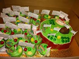 Edible Plant Cell Project on Cake Central