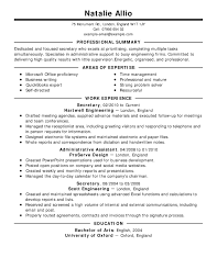 Secretary Resume Example Classic 2 Full Resumes Examples 1