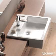 duravit vero semi recessed washbasin white with 1 tap hole