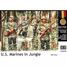 master box 1 35 the united states and marine corps 4 bodies pacific war jungle warfare mb3589 model car
