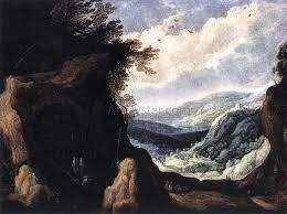 100 Rocky Landscape Joos De Momper With Monks Oil Painting Oil