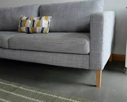 Karlstad Sofa Cover Isunda Gray by Tapered Ikea Karlstad Replacement Legs