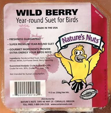 Natures Nuts 00162 11.5 oz Wild Berry Suet