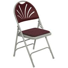 100 Oversized Padded Folding Chairs National Public Seating 1000 Series FanBack Upholstered