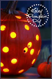 Pumpkin Carving Drill Bit by No Drill Holey Pumpkin Diy Stonegable