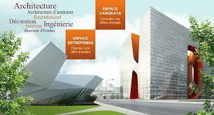 bureau d emploi emploi recrutement architecte d intérieur ingénieur