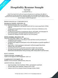 Resume Example For Hotel Industry Hospitality Job Sample Bar Manager Management Examples Front Desk Samples