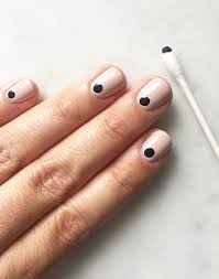 A Simple Nail Hack For Graphic Understated Nails Photo Via Cupcakes And Cashmere