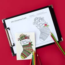 Free Printable Christmas Coloring Card Template To Create Your Own Cute DIY