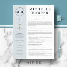Professional & Modern Resume Template For Word And Pages   Etsy 70 Welldesigned Resume Examples For Your Inspiration Piktochart 15 Design Ideas Ipirations Templateshowto Tutorial Professional Cv Template For Word And Pages Creative Etsy Best Selling Office Templates Cover Letter Application Advice 2019 Modern Femine By On Dribbble Editable Curriculum Vitae Layout Awesome Blue In Microsoft Silent How To Design Your Own Resume Ux Collective