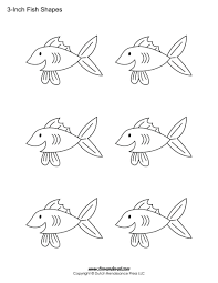 Coloring Pages Large Fish Template Printable Stencils Bowl Christian