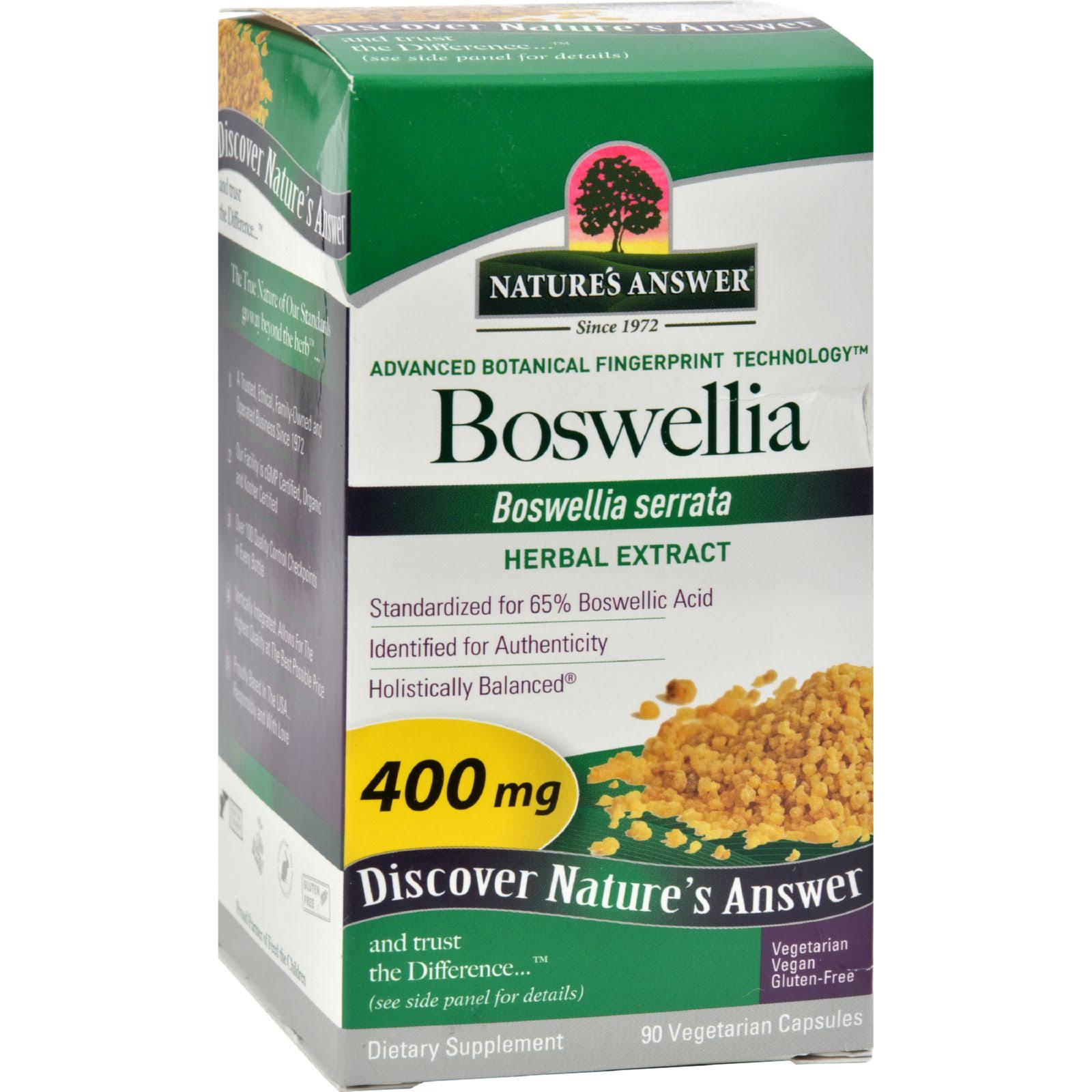 Nature's Answer Boswellia Extract Supplement - 90 Vegetarian Capsules