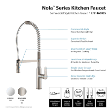 Commercial Kitchen Faucets Amazon by Kraus Kpf 1650ss Modern Nola Single Lever Commercial Style Kitchen