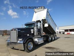 100 Kw Truck USED 2008 KENWORTH W900 TRIAXLE ALUMINUM DUMP TRUCK FOR SALE IN PA