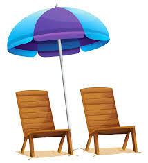 Transparent Beach Umbrella And Chairs PNG Clipart
