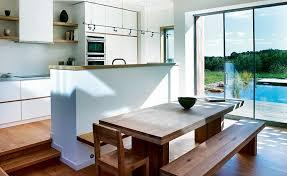 Open Plan Split Level Kitchen